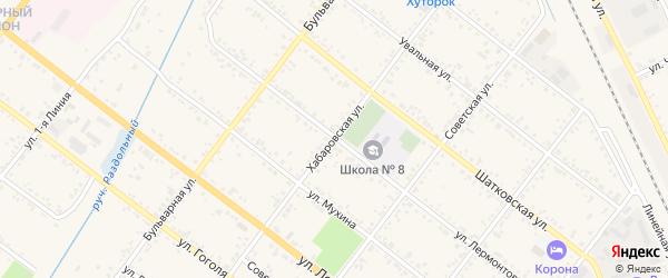 Хабаровская улица на карте Свободного с номерами домов