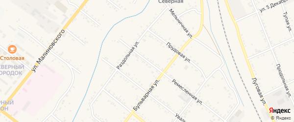 Ремесленная улица на карте Свободного с номерами домов