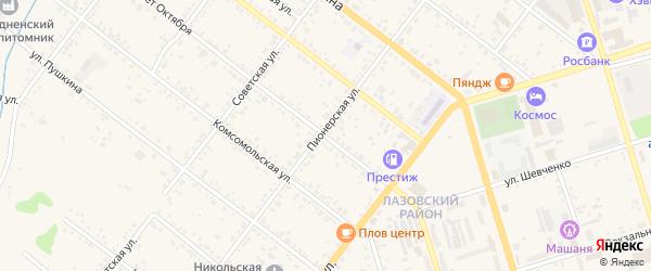 Улица 50 лет Октября на карте Свободного с номерами домов