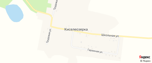 Гаражная улица на карте села Киселеозерки с номерами домов