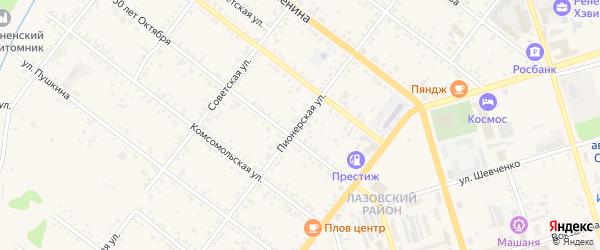 Пионерская улица на карте Свободного с номерами домов