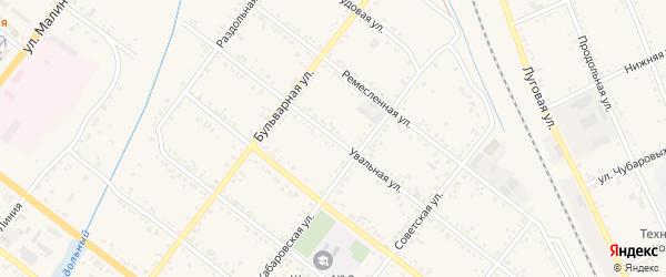 Увальная улица на карте Свободного с номерами домов