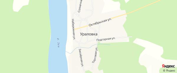 Карта села Ураловки в Амурской области с улицами и номерами домов