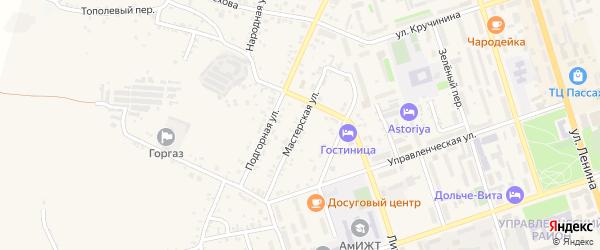 Мастерская улица на карте Свободного с номерами домов