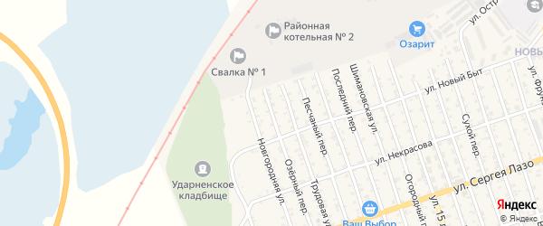 Озерный переулок на карте Свободного с номерами домов