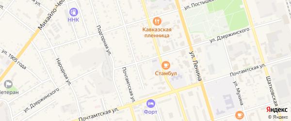 Улица Дзержинского на карте Свободного с номерами домов