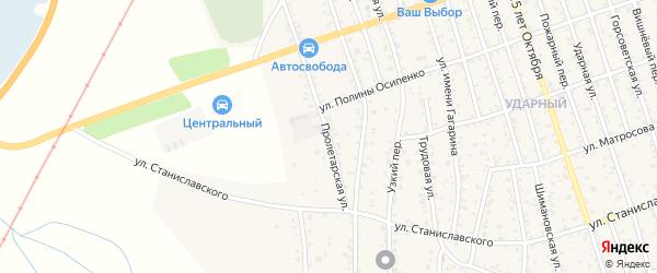 Пролетарская улица на карте Свободного с номерами домов