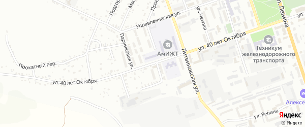 Улица 40 лет Октября на карте Свободного с номерами домов