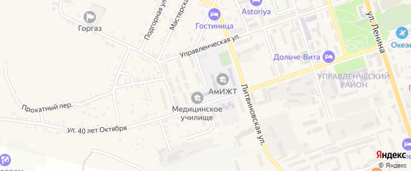 Медицинская улица на карте Свободного с номерами домов