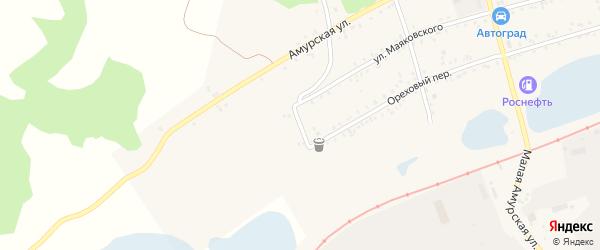 Дальневосточный переулок на карте Свободного с номерами домов