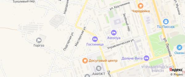 Проезжая улица на карте Свободного с номерами домов