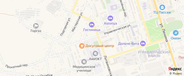 Управленческая улица на карте Свободного с номерами домов