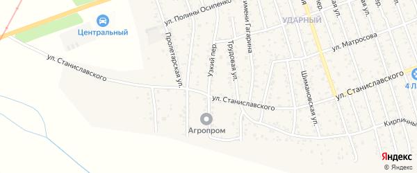 Узкий переулок на карте Свободного с номерами домов