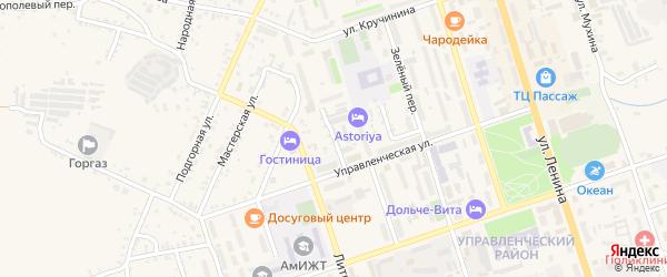 Угловой переулок на карте Свободного с номерами домов