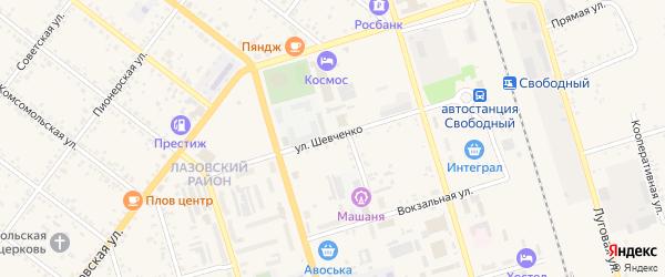 Улица Шевченко на карте Свободного с номерами домов