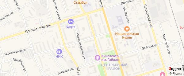 Инженерная улица на карте Свободного с номерами домов