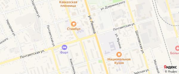 Почтамтская улица на карте Свободного с номерами домов