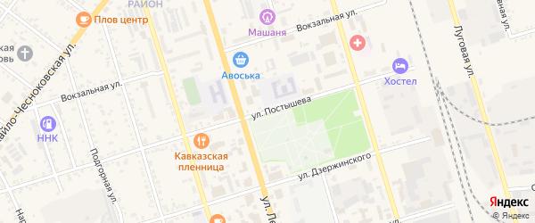 Улица Постышева на карте Свободного с номерами домов