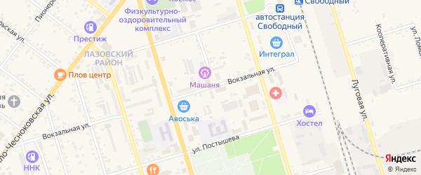 Вокзальная улица на карте Свободного с номерами домов