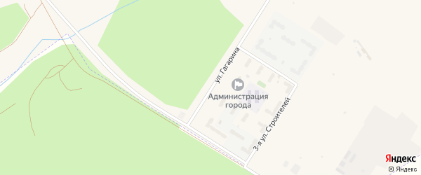 Улица Гагарина на карте поселка Углегорска с номерами домов