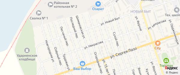 Огородний переулок на карте Свободного с номерами домов
