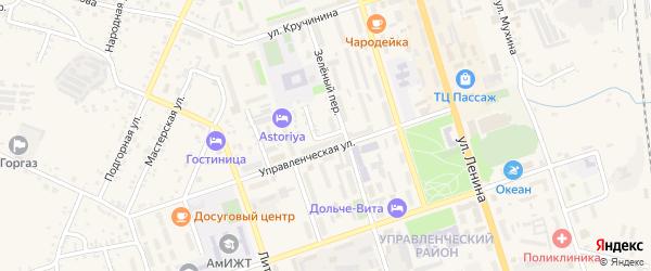 Квартальный переулок на карте Свободного с номерами домов