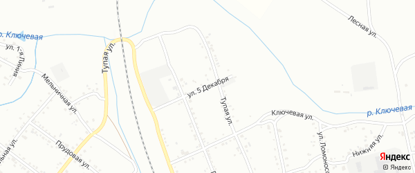 Улица 5 Декабря на карте Свободного с номерами домов