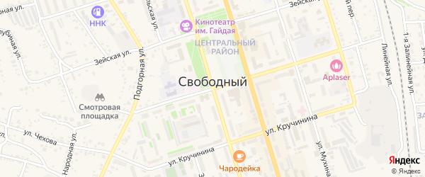 Локомобильный переулок на карте Свободного с номерами домов