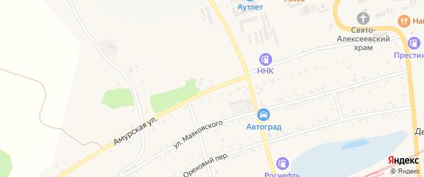 Амурская улица на карте Свободного с номерами домов