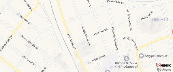 Продольная улица на карте Свободного с номерами домов