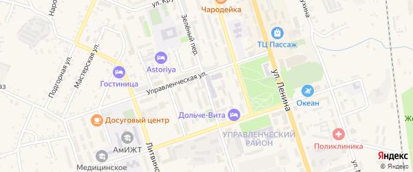 Зеленый переулок на карте Свободного с номерами домов
