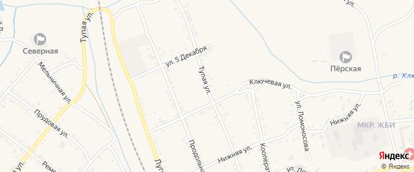 Тупая улица на карте Свободного с номерами домов