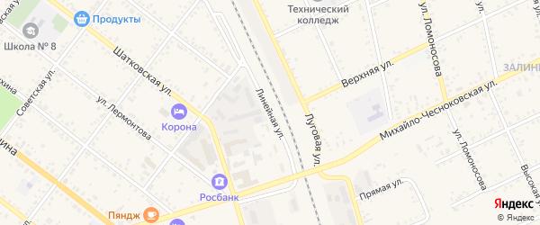 Линейная улица на карте Свободного с номерами домов