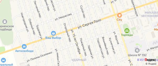 Пожарный переулок на карте Свободного с номерами домов