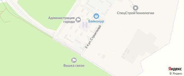Улица Строителей на карте поселка Углегорска с номерами домов