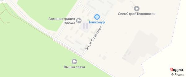Улица 3-я улица Строителей на карте поселка Углегорска с номерами домов