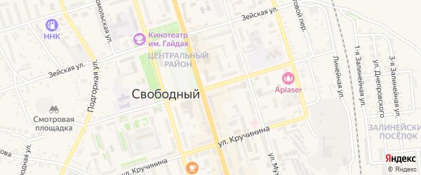 Улица Карла Маркса на карте Свободного с номерами домов