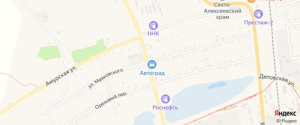 Улица Маяковского на карте Свободного с номерами домов