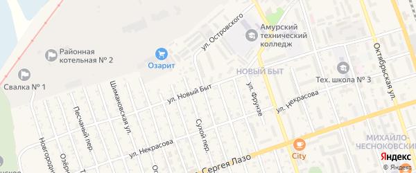 Улица Новый Быт на карте Свободного с номерами домов