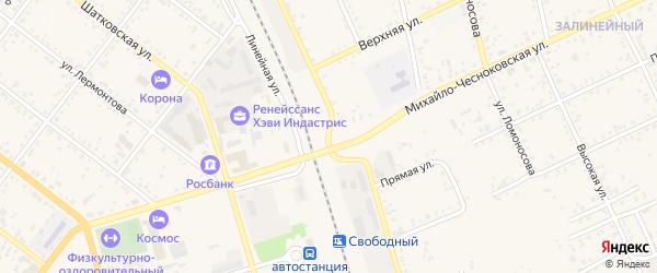 Луговая улица на карте Свободного с номерами домов