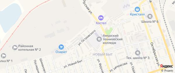 Улица Островского на карте Свободного с номерами домов