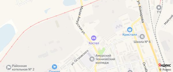 Малая Амурская улица на карте Свободного с номерами домов