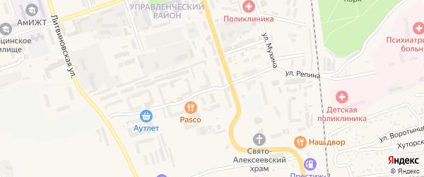 Улица Репина на карте Свободного с номерами домов