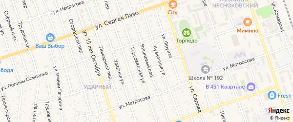 Вишневый переулок на карте Свободного с номерами домов