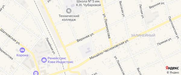 Кооперативная улица на карте Свободного с номерами домов