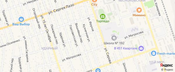 Кузнечная улица на карте Свободного с номерами домов