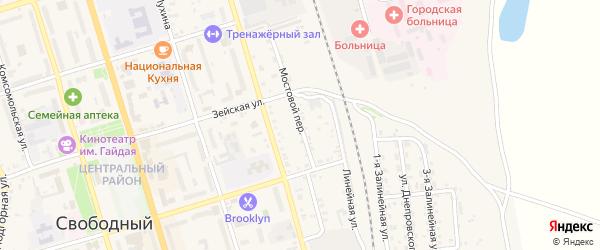 Мостовой переулок на карте Свободного с номерами домов