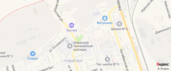 Механический переулок на карте Свободного с номерами домов