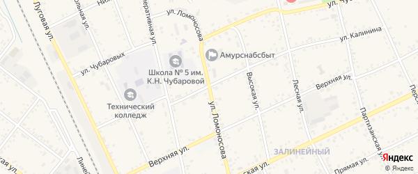 Улица Ломоносова на карте Свободного с номерами домов