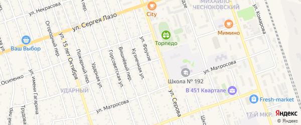 Улица Фрунзе на карте 21 Свободного городка с номерами домов